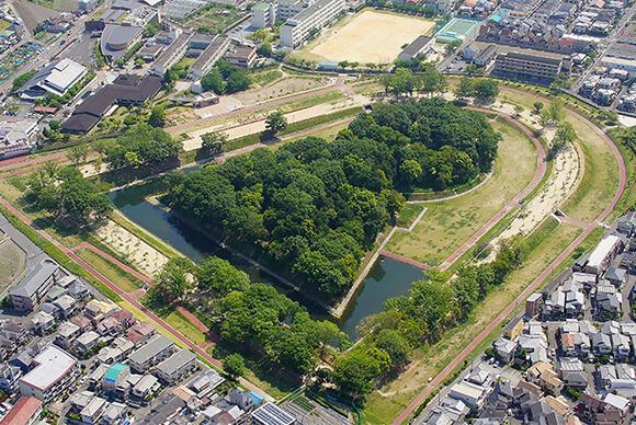 今城塚古墳公園航空写真