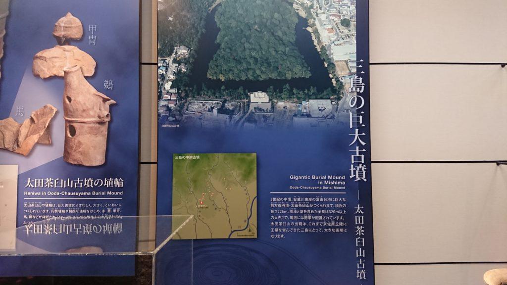 三島の巨大古墳パネル
