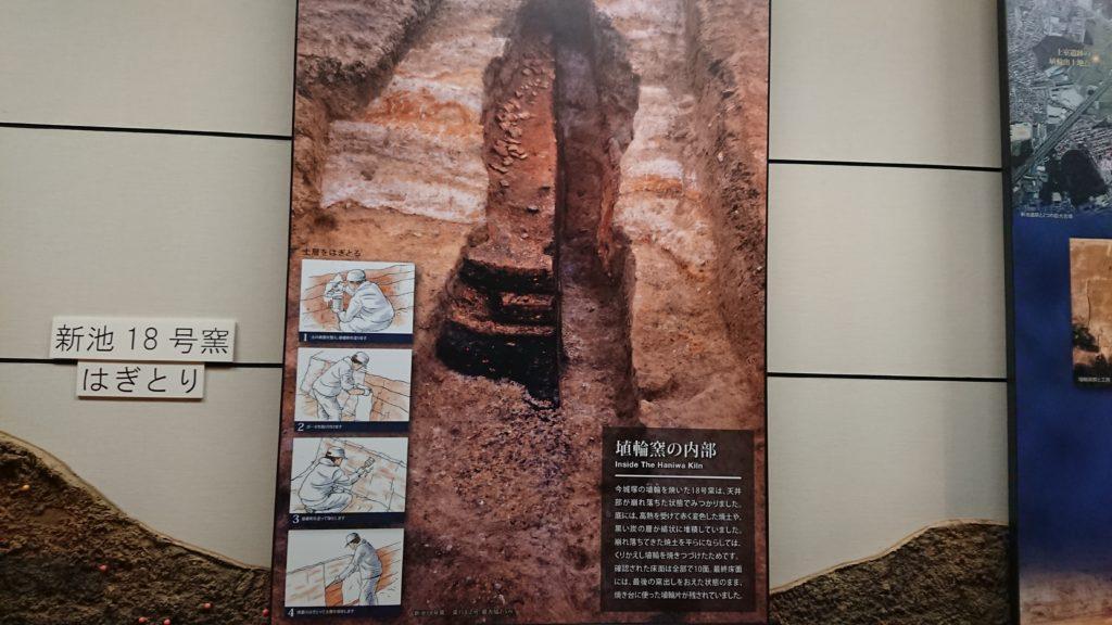 埴輪窯の内部
