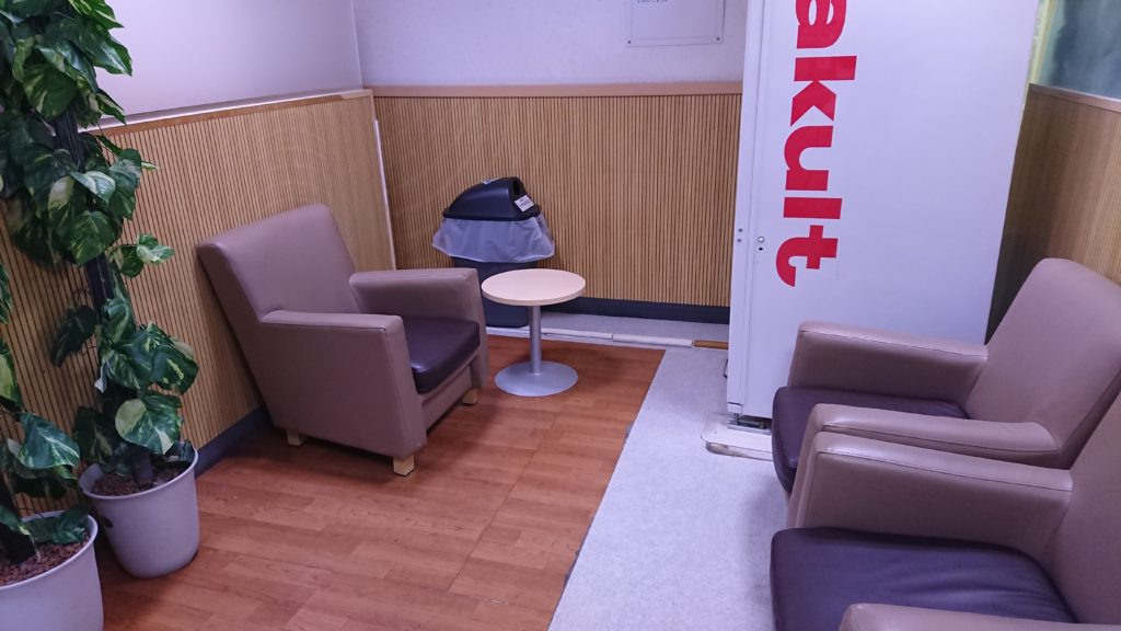 高槻イオンの授乳室の待合室