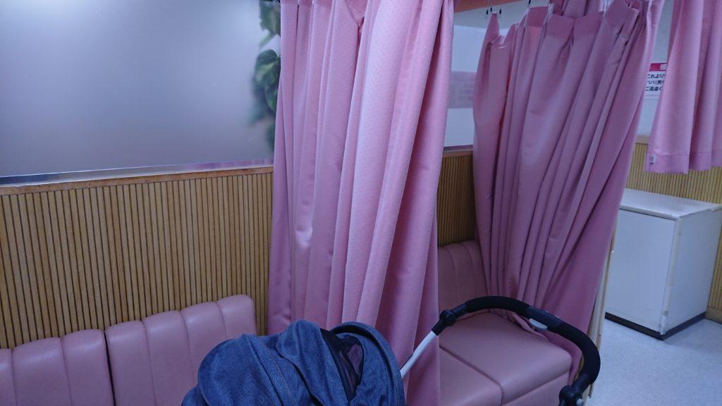 高槻イオンの授乳室の授乳スペース