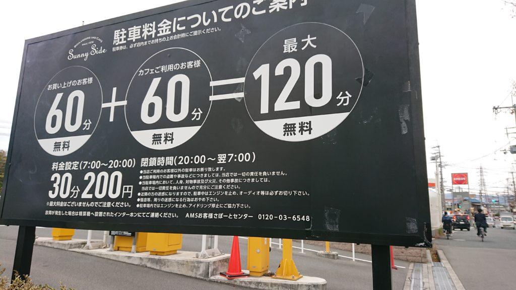 サニーサイド高槻の駐車場の看板