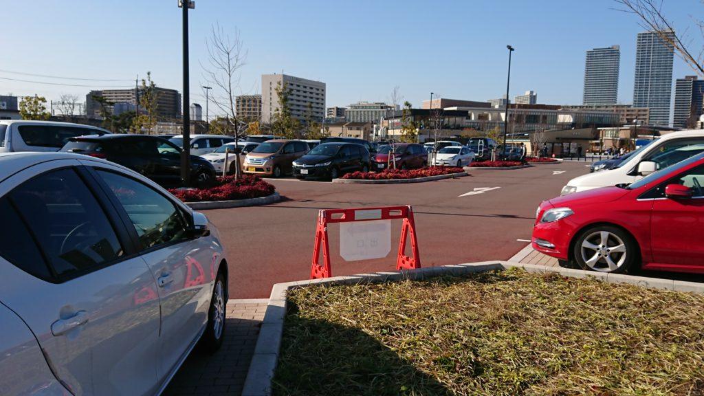 安満遺跡公園の駐車場