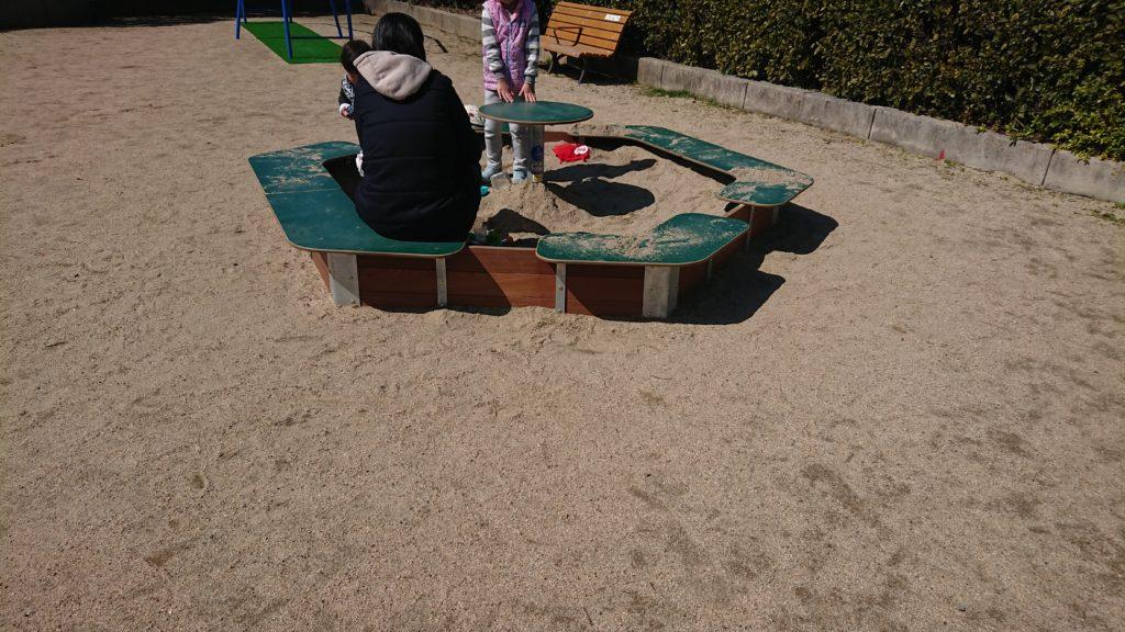 たんぽぽ公園の砂場