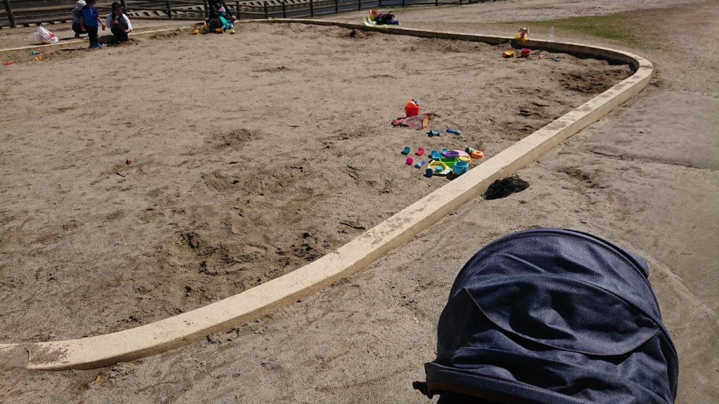 桜堤公園の砂場