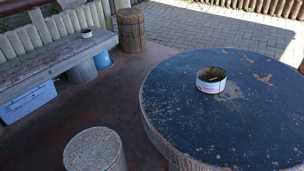 清水池公園の喫煙所