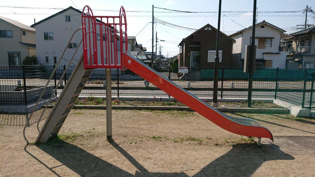 津之江町三丁目なでしこ児童遊園の滑り台