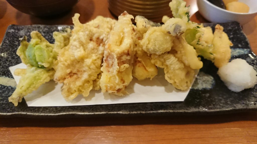 亀八寿司 天ぷら定食