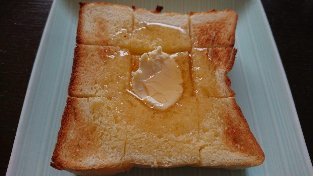 銀座に志かわの食パンのアレンジ