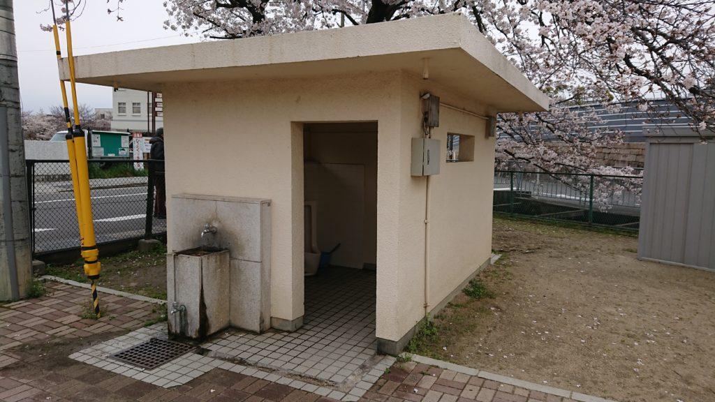 筒井池公園のトイレ