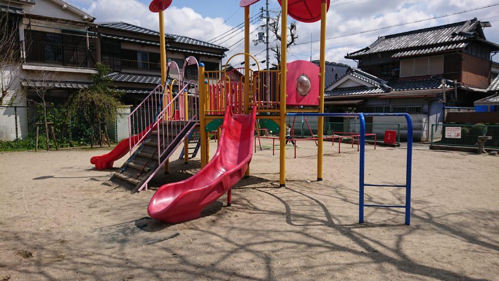 富田町五丁目こすもす公園コンビネーション遊具