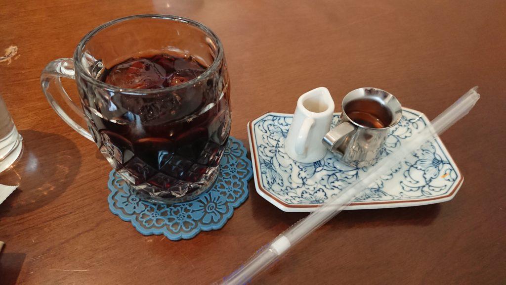 ユゲゲカフェのアイスコーヒー