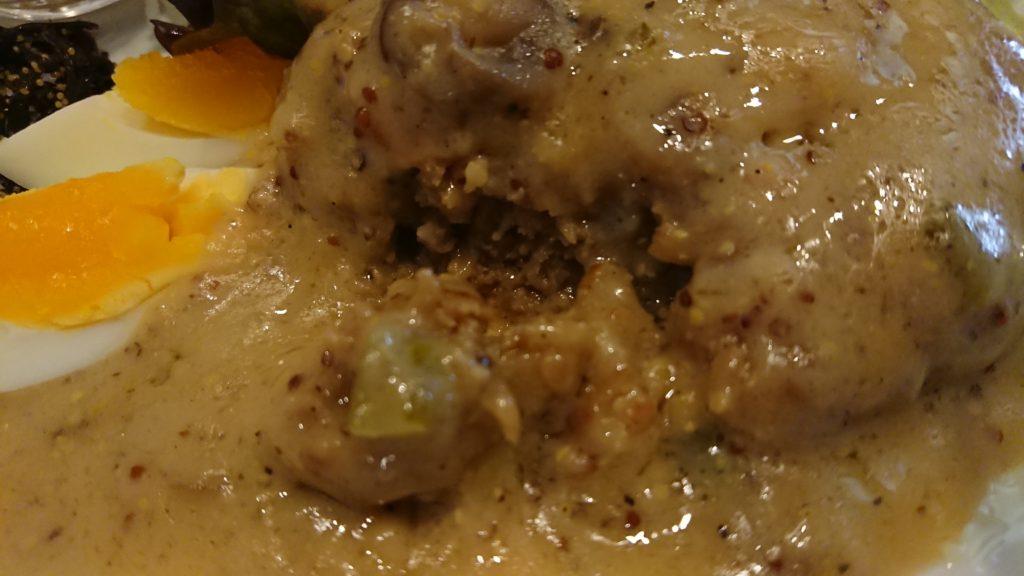 暖談(ダンダン)の煮込みハンバーグマスタードソース