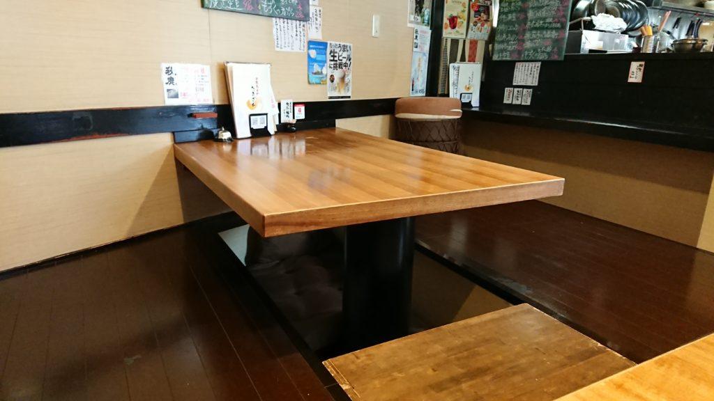 キッチンたきざわの座敷席