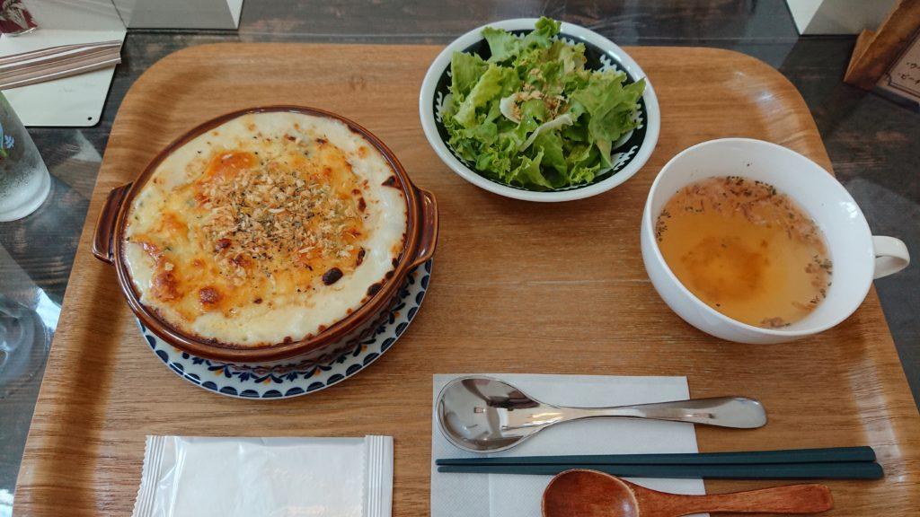 菜の花とベーコンのドリアランチ
