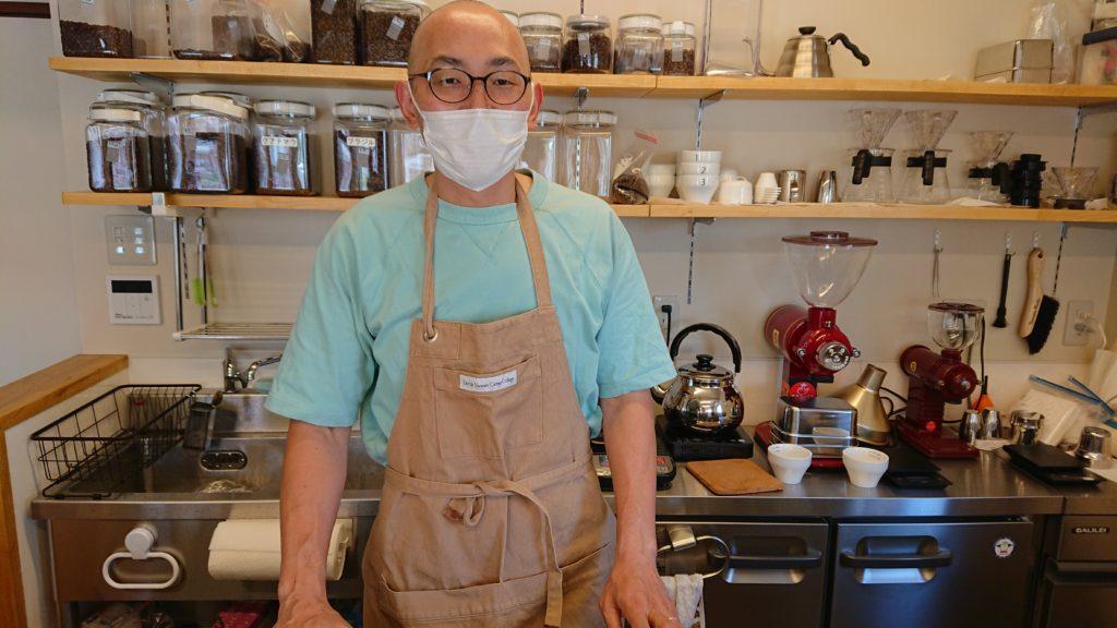 タナカコーヒーの店長さん