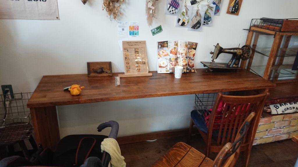 MAKE E CAFEのカウンター席