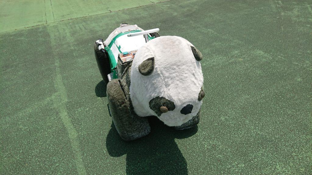 神戸フルーツフラワーパークのパンダの乗り物