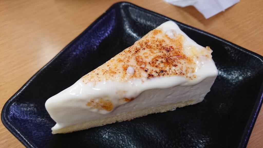 スシローのブリュレアチーズケーキ