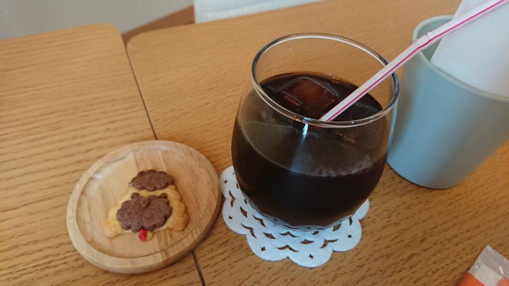 モフズカフェのアイスコーヒー
